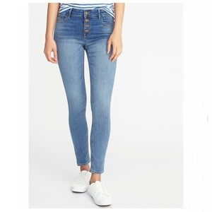 OLD NAVY Mid-Rise Button Fly Rockstar Jeans